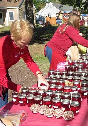 Selection of Cranberry preserves on sale