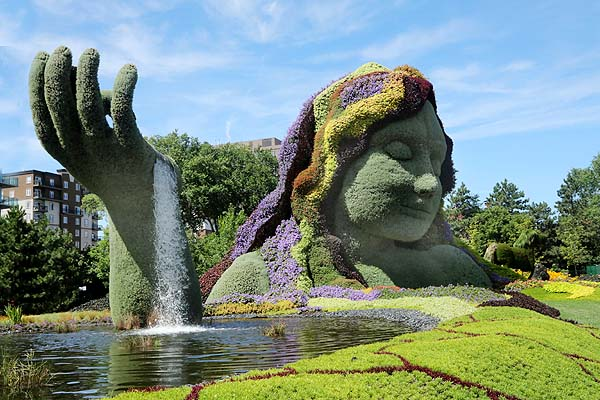 Gaia the mother goddess a recurring theme at Mosaiculture