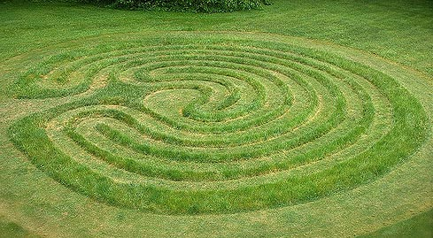 Grass labyrinth. Something anyone can do and have fun with.