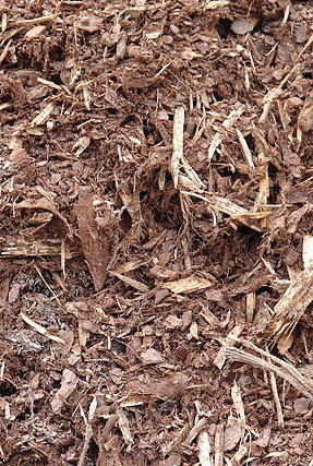 more finely shredded bark, is more suitable for potting mixes